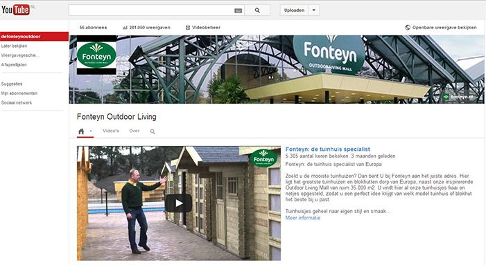 Volg de Fonteyn Outdoor Living Mall op Youtube!